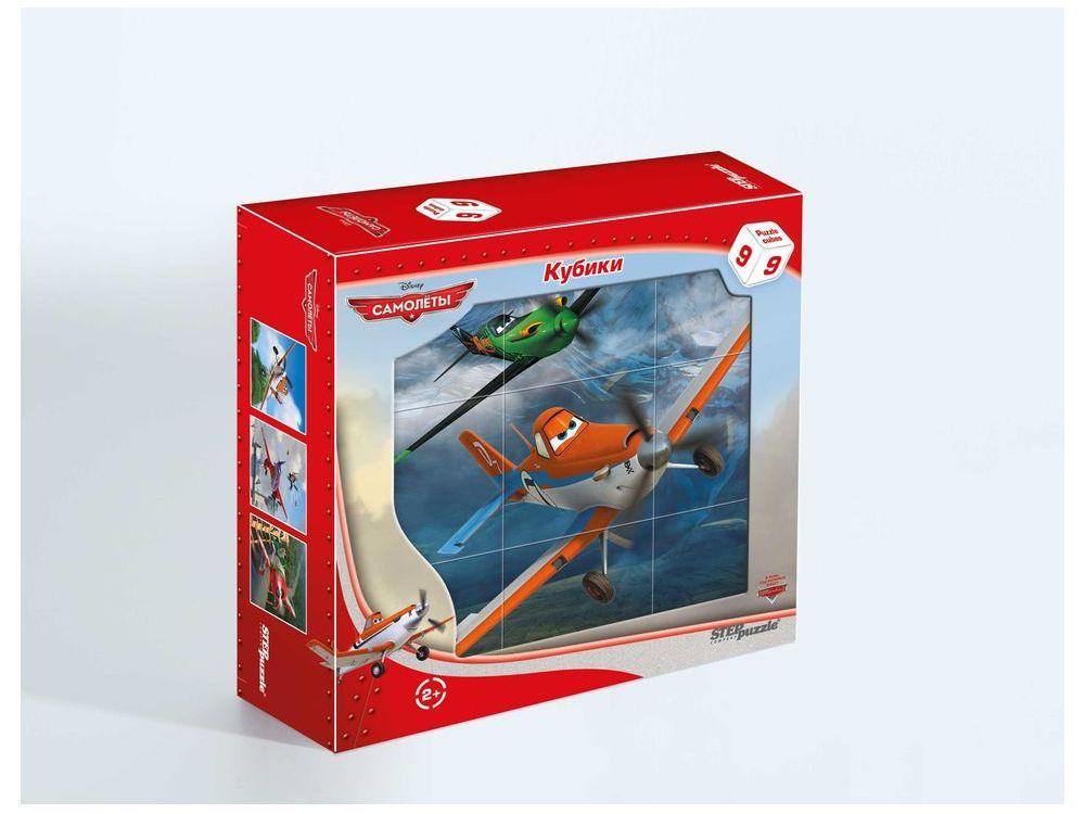 9 кубиков «Самолёты»Настольные развивающие игры<br>С помощью кубиков Step Puzzle Самолеты ребенок сможет собрать целых шесть красочных картинок с любимыми героями мультфильма Самолеты.<br> <br>Игра с кубиками развивает зрительное восприятие, наблюдательность, мелкую моторику рук и произвольные движения. Р...<br><br>Артикул: 87144<br>Размер упаковки: 14x14x5,5 см<br>Возраст: от 2 лет<br>Время игры: 10-30 мин.<br>Количество игроков: 1+<br>Аудитория: Детские