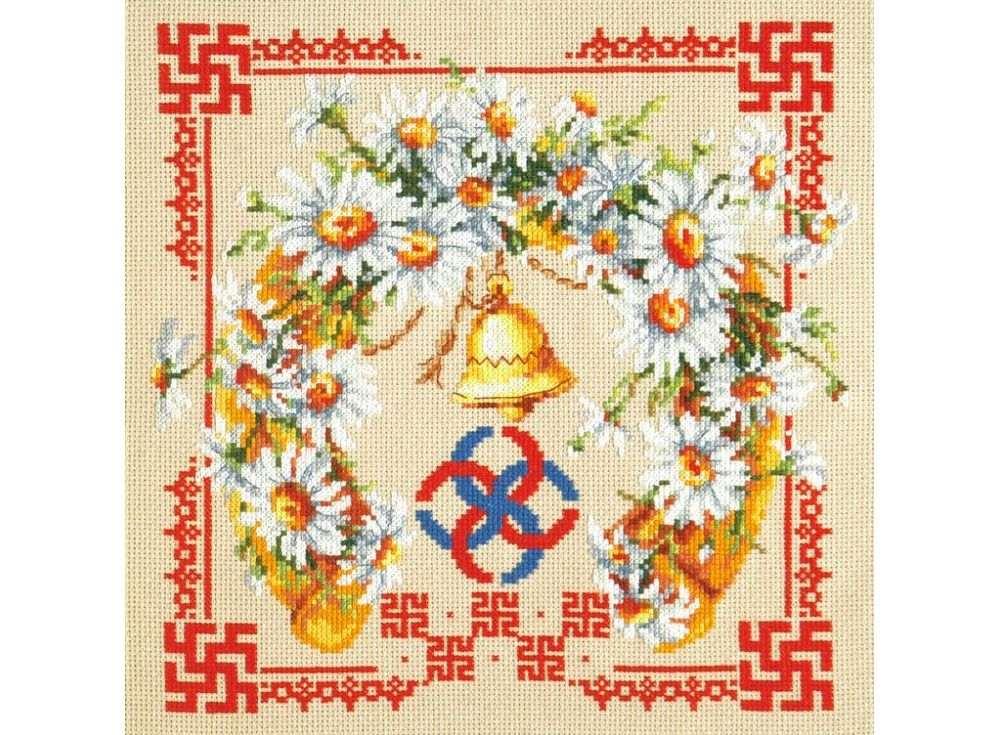 Набор для вышивания «Любовь и верность»Вышивка крестом Чудесная игла<br><br><br>Артикул: 88-09<br>Основа: канва Aida 14 (хлопок)<br>Размер: 26x26 см<br>Техника вышивки: счетный крест<br>Тип схемы вышивки: Цветная схема<br>Цвет канвы: Бежевый<br>Количество цветов: 25<br>Заполнение: Частичное<br>Игла: №24<br>Рисунок на канве: не нанесён<br>Техника: Вышивка крестом<br>Нитки: Мулине Чудесная игла