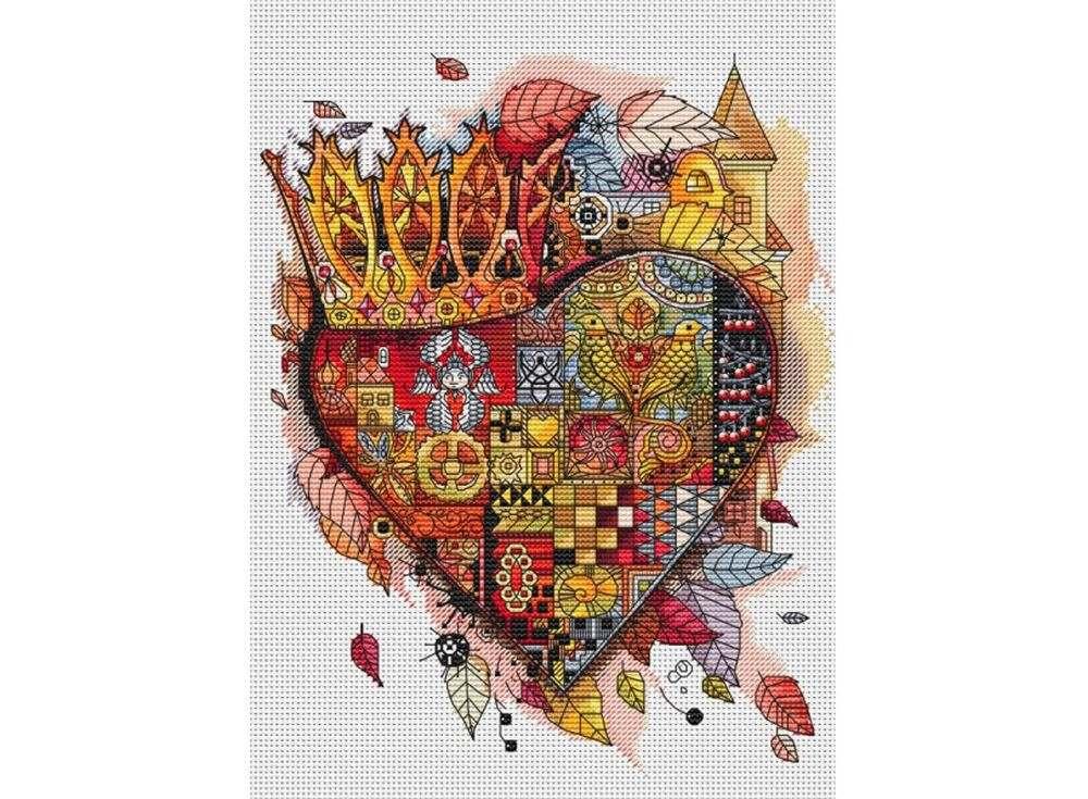 Набор для вышивания «Королевское сердце» Оксаны ЗаикиБелоснежка<br><br><br>Артикул: 940-14<br>Основа: канва Aida 14<br>Размер: 28x33 см<br>Техника вышивки: счетный крест<br>Тип схемы вышивки: Цветная схема<br>Количество крестиков: 108x136<br>Цвет канвы: Белый<br>Размер вышитой работы: 20x25 см<br>Количество цветов: 52+13 блендов<br>Игла: 2 шт.<br>Рисунок на канве: нанесён водорастворимый рисунок<br>Техника: Вышивка крестом