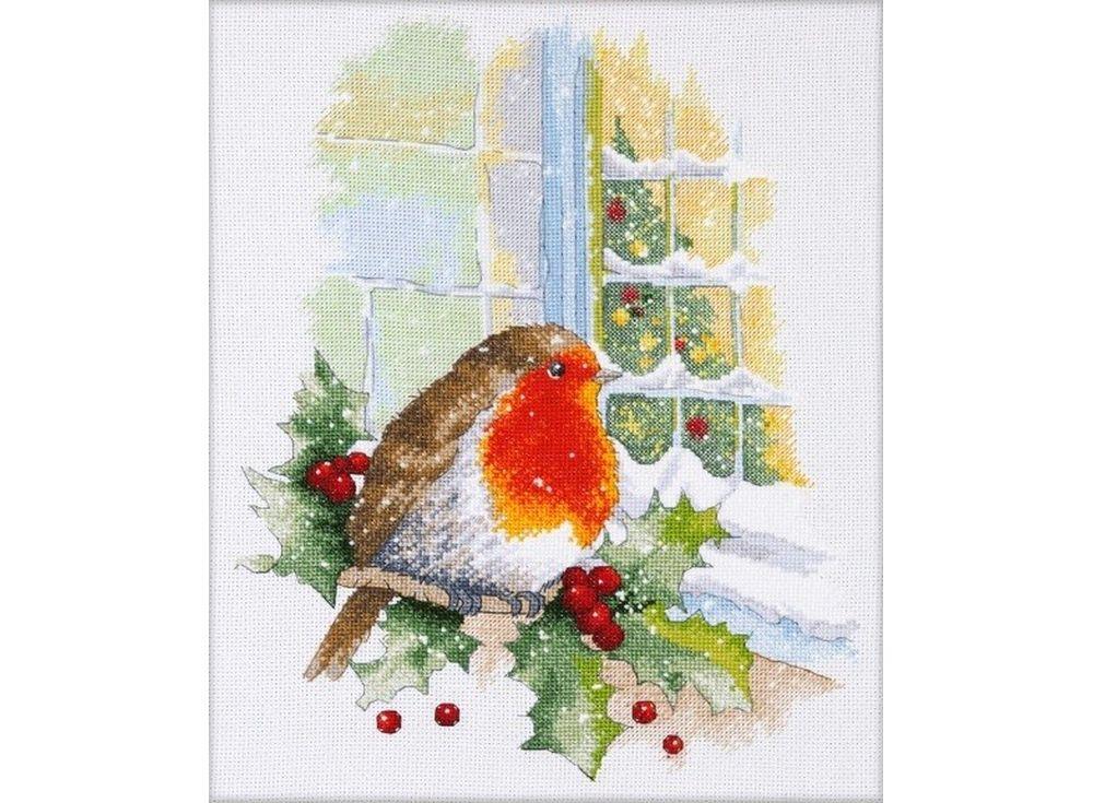 Набор для вышивания «В преддверии Рождества»Вышивка крестом Овен<br><br><br>Артикул: 967<br>Основа: канва Aida 16<br>Размер: 23x30 см<br>Техника вышивки: счетный крест<br>Тип схемы вышивки: Цветная схема<br>Цвет канвы: Белый<br>Количество цветов: 24<br>Заполнение: Частичное<br>Рисунок на канве: не нанесён<br>Техника: Вышивка крестом<br>Нитки: Мулине 100% хлопок