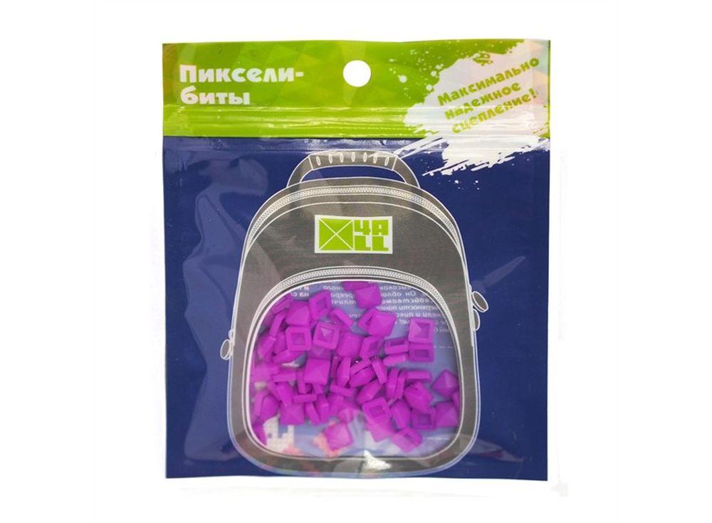 Биты 4ALL Kids ярко-фиолетовые, 80 шт.Пиксельные рюкзаки<br><br><br>Артикул: B32-23<br>Размер готовой модели: 6x6 см<br>Цвет: Ярко-фиолетовый<br>Серия: 4ALL Kids<br>Материал: Силикон<br>Возраст: от 3 лет<br>Размер битов: Маленькие<br>Количество битов: 80 шт.