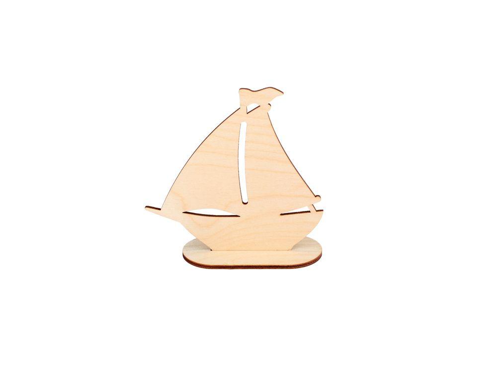 Форма для декора «Кораблик»Формы для декора на подставке<br><br><br>Артикул: DZ00015<br>Основа: фанера<br>Размер: 125x120/толщина 3 мм<br>Упаковка: пакет<br>Размер упаковки: 12,5x12x0,5 см