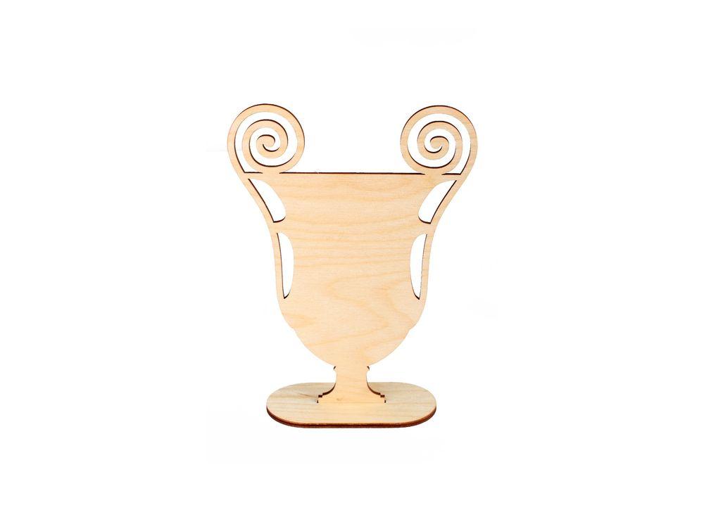 Форма для декора «Ампирная ваза»Формы для декора на подставке<br><br><br>Артикул: DZ00017<br>Основа: фанера<br>Размер: 135x180/толщина 3 мм<br>Упаковка: пакет<br>Размер упаковки: 29x16x0,5 см
