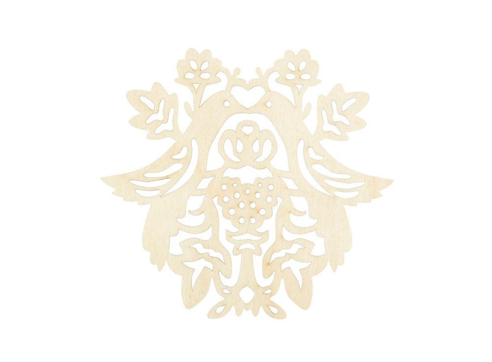 Форма дл декора «Жар-птица»Формы дл декора<br><br><br>Артикул: DZ11010<br>Основа: фанера<br>Размер: 120x130/толщина 3 мм<br>Упаковка: пакет