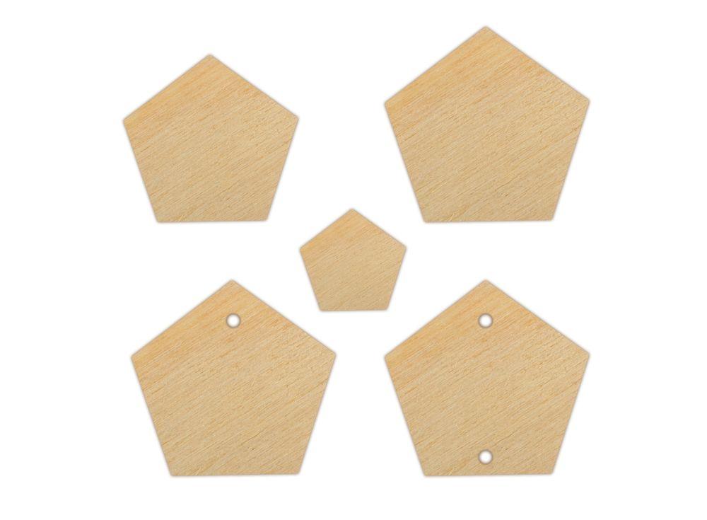 Набор декоративных элементов «Многогранник»Наборы деревянных заготовок<br><br><br>Артикул: DZ40014<br>Основа: фанера<br>Размер: 15x15, 20x20, 30x30/толщина 3 мм<br>Упаковка: пакет