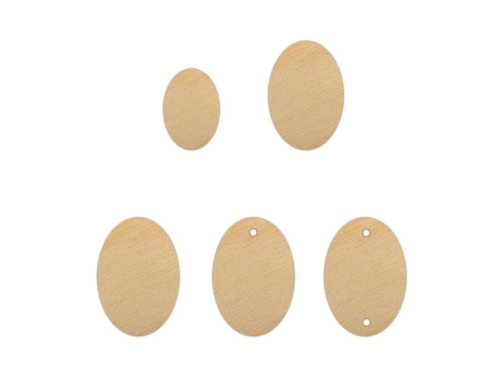Набор декоративных элементов «Овал»Наборы деревянных заготовок<br><br><br>Артикул: DZ40027<br>Основа: фанера<br>Размер: от 10x15 до 20x30/толщина 3 мм<br>Упаковка: пакет