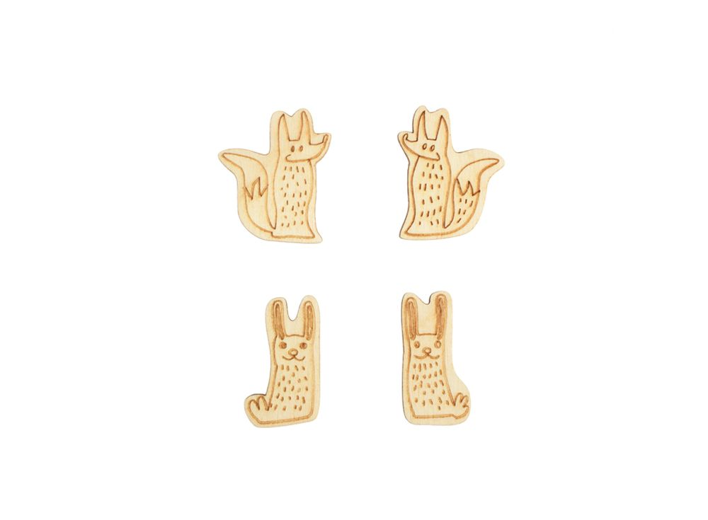 Мини-набор «Лесные зверушки»Наборы деревянных заготовок<br><br><br>Артикул: DZ40053<br>Основа: фанера<br>Размер: 10x30/толщина 3 мм<br>Упаковка: пакет