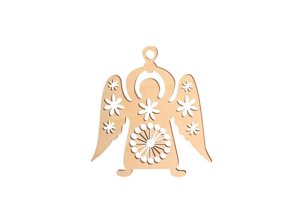Декоративная форма-подвеска «Ангелочек»Декоративные подвески<br><br><br>Артикул: DZ50026<br>Основа: фанера<br>Размер: 130x138/толщина 3 мм<br>Упаковка: пакет