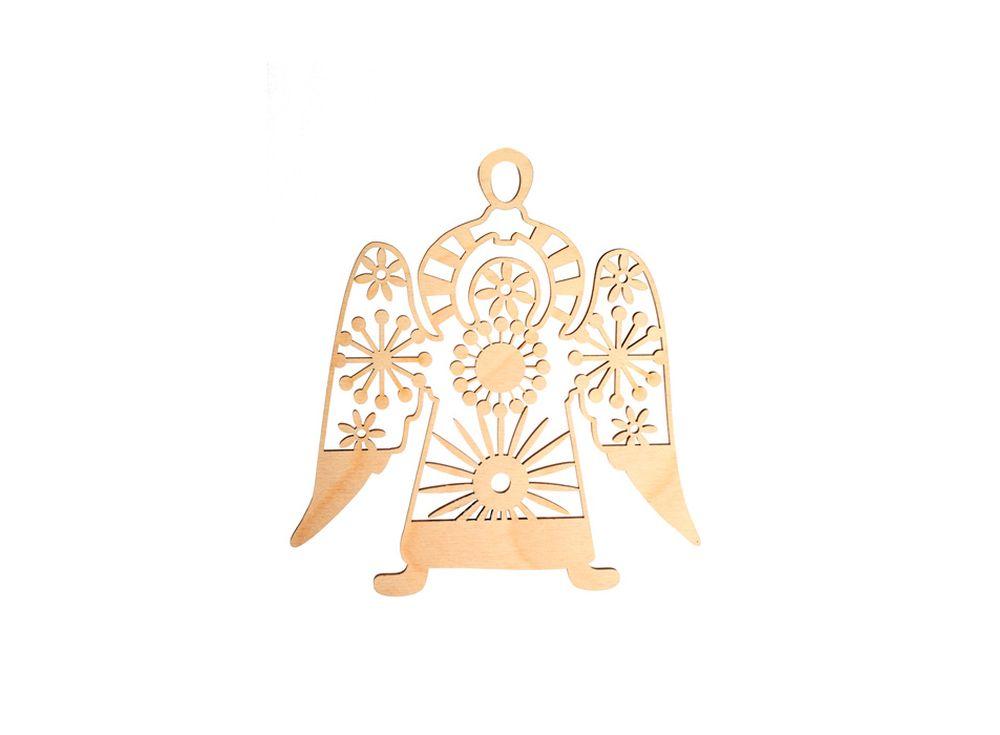 Декоративная форма-подвеска «Ангелочек-1»Декоративные подвески<br><br><br>Артикул: DZ50027<br>Основа: фанера<br>Размер: 130x138/толщина 3 мм<br>Упаковка: пакет