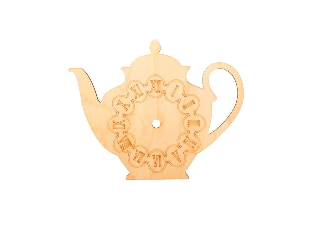 Форма для декора «Время чая»Заготовки для часов<br><br><br>Артикул: DZ60014<br>Основа: фанера<br>Размер: 210x172/толщина 4 мм<br>Упаковка: пакет
