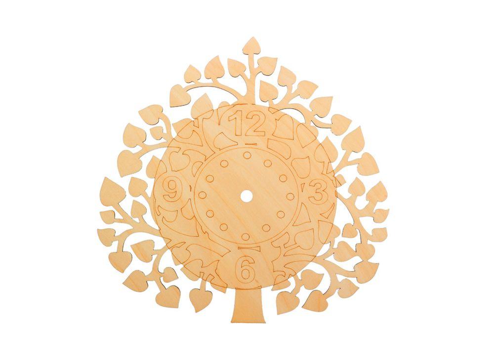 Форма для декора «Дерево любви»Заготовки для часов<br><br><br>Артикул: DZ60020<br>Основа: фанера<br>Размер: 260x260/толщина 4 мм<br>Упаковка: пакет