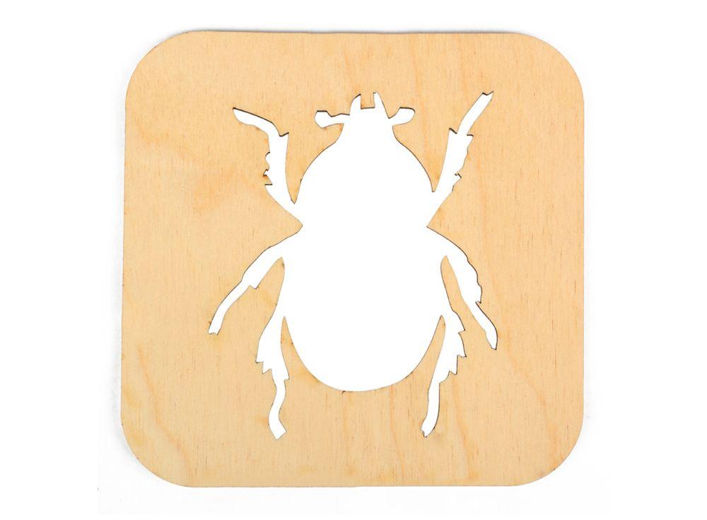 Декоративная плитка «Силуэт жука»Декоративные плитки<br><br><br>Артикул: DZ70005<br>Основа: фанера<br>Размер: 120x120/толщина 3 мм<br>Упаковка: пакет