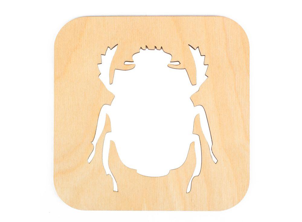 Декоративная плитка «Силуэт жука»Декоративные плитки<br><br><br>Артикул: DZ70006<br>Основа: фанера<br>Размер см: 120x120/толщина 3 мм<br>Упаковка: пакет