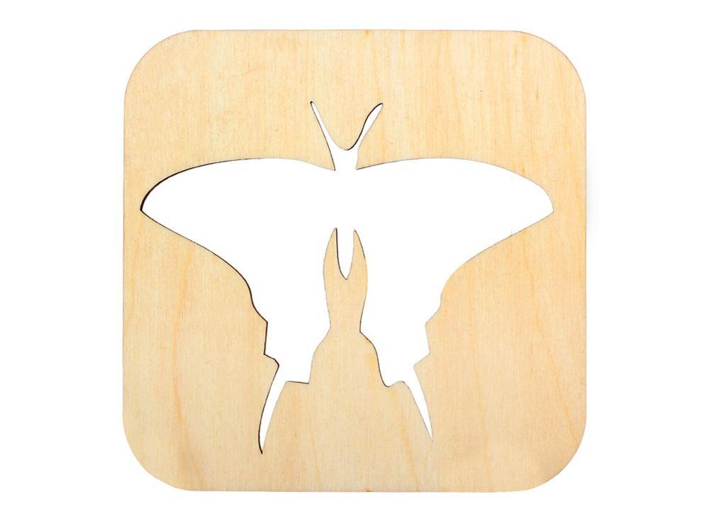 Декоративная плитка «Силуэт бабочки»Декоративные плитки<br><br><br>Артикул: DZ70008<br>Основа: фанера<br>Размер: 120x120/толщина 3 мм<br>Упаковка: пакет