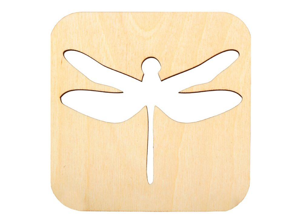 Декоративная плитка «Силуэт стрекозы»Декоративные плитки<br><br><br>Артикул: DZ70009<br>Основа: фанера<br>Размер см: 120x120/толщина 3 мм<br>Упаковка: пакет