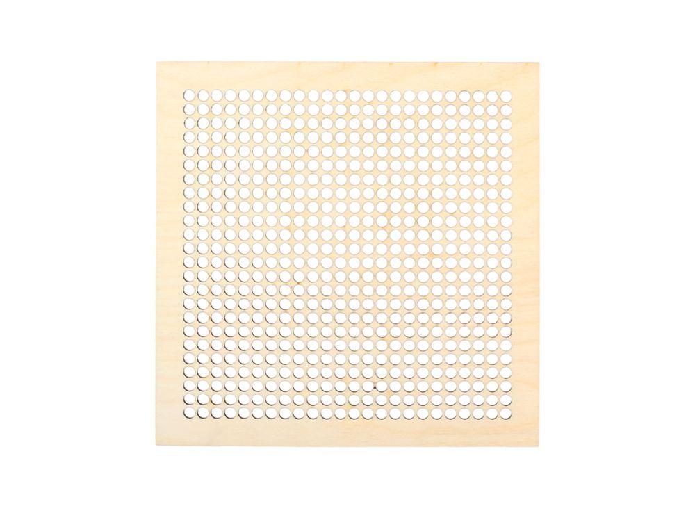 Декоративная плитка с перфорацией для вышивкиДекоративные плитки<br><br><br>Артикул: DZ70012<br>Основа: фанера<br>Размер см: 220x220/толщина 3 мм
