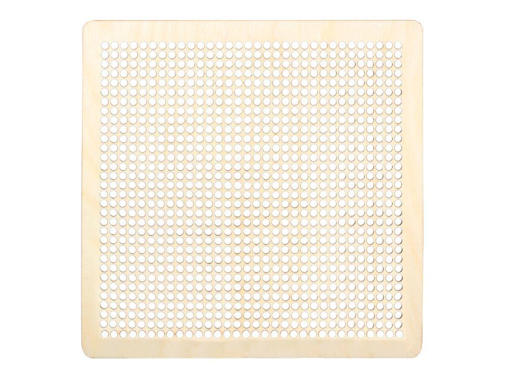 Декоративная плитка с перфорацией для вышивкиДекоративные плитки<br><br><br>Артикул: DZ70013<br>Основа: фанера<br>Размер: 170x170/толщина 3 мм