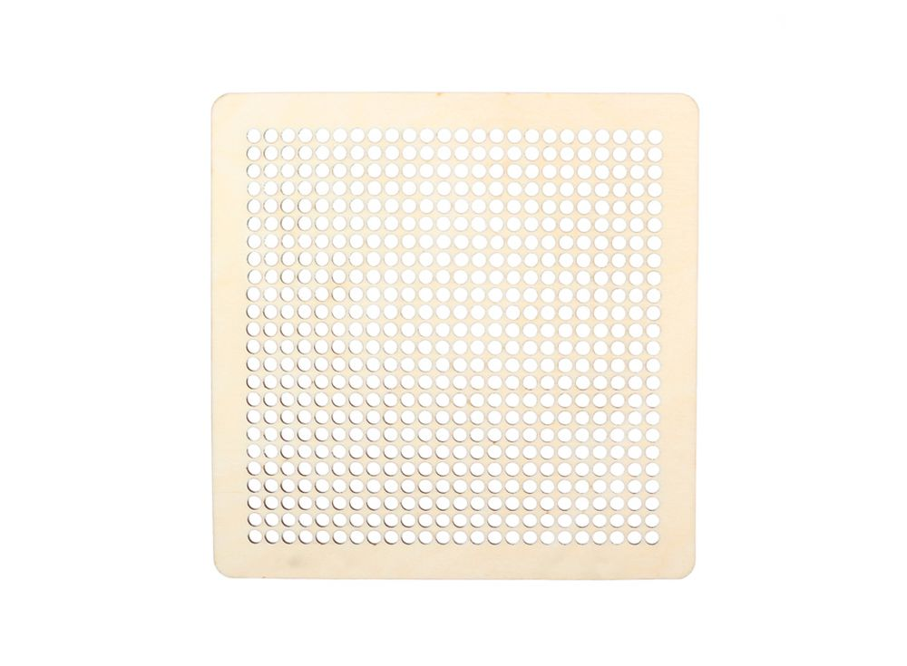 Декоративная плитка с перфорацией для вышивкиДекоративные плитки<br><br><br>Артикул: DZ70014<br>Основа: фанера<br>Размер см: 220x220/толщина 3 мм