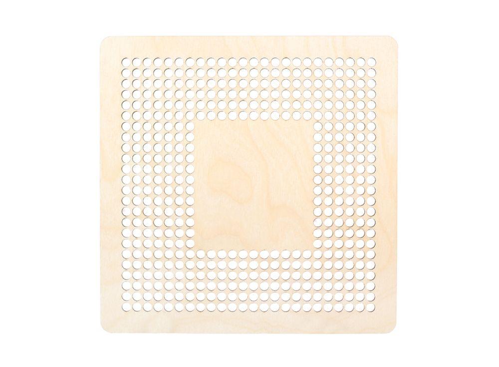 Декоративная плитка с перфорацией для вышивкиДекоративные плитки<br><br><br>Артикул: DZ70016<br>Основа: фанера<br>Размер: 170x170/толщина 3 мм