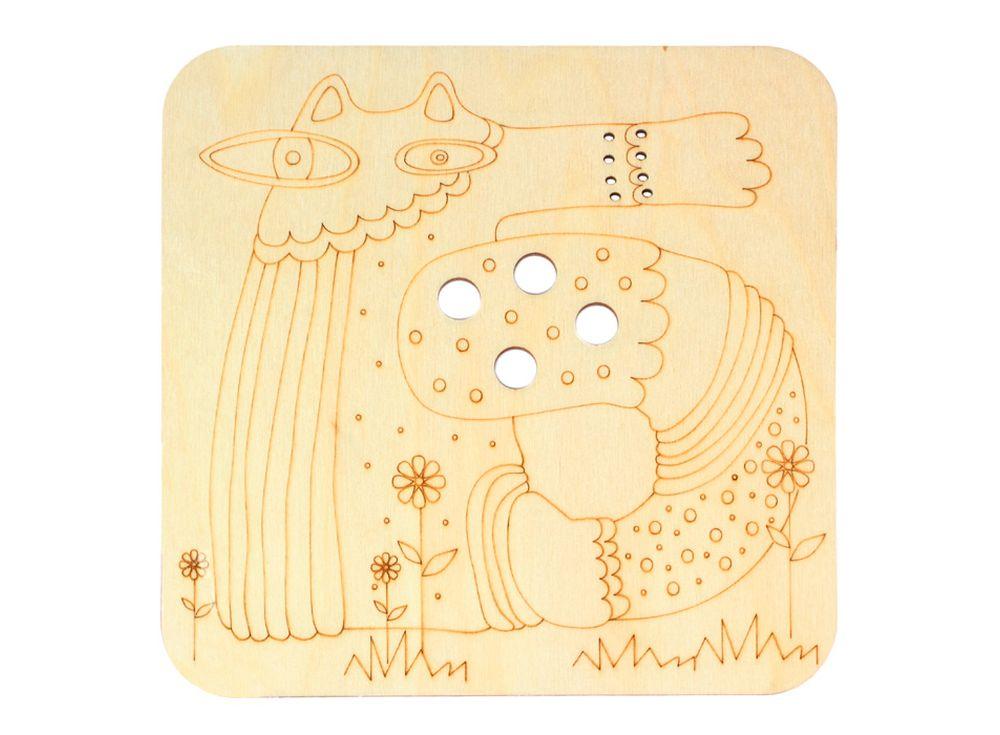 Серия «Занимательные животные»Декоративные плитки<br><br><br>Артикул: DZ70020<br>Основа: фанера<br>Размер: 170x170/толщина 3 мм<br>Упаковка: пакет