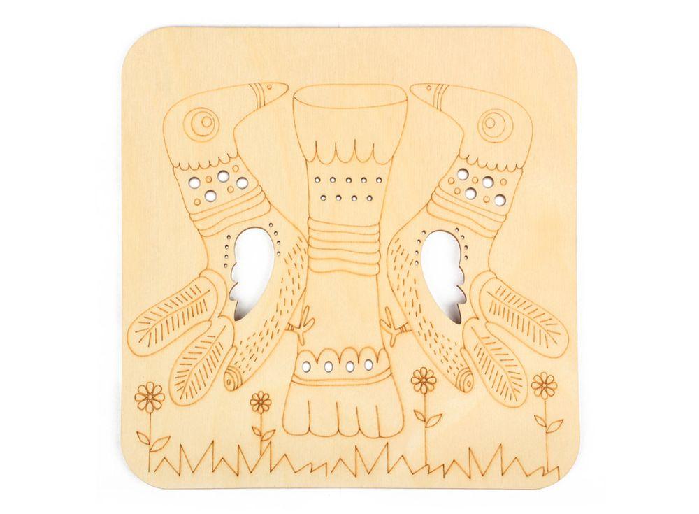 Серия «Занимательные животные»Декоративные плитки<br><br><br>Артикул: DZ70022<br>Основа: фанера<br>Размер: 170x170/толщина 3 мм<br>Упаковка: пакет