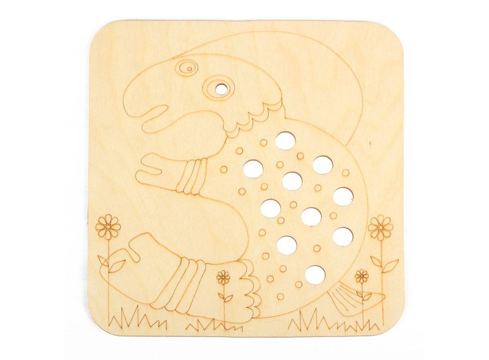 Серия «Занимательные животные»Декоративные плитки<br><br><br>Артикул: DZ70023<br>Основа: фанера<br>Размер: 170x170/толщина 3 мм<br>Упаковка: пакет