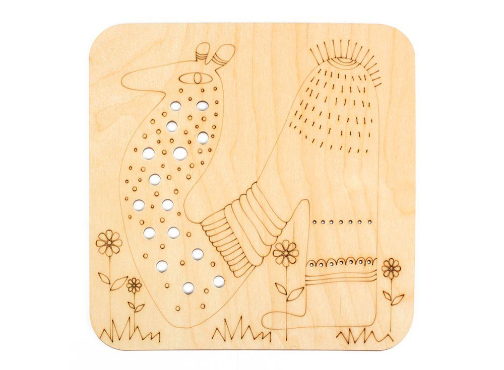 Серия «Занимательные животные»Декоративные плитки<br><br><br>Артикул: DZ70024<br>Основа: фанера<br>Размер: 170x170/толщина 3 мм<br>Упаковка: пакет