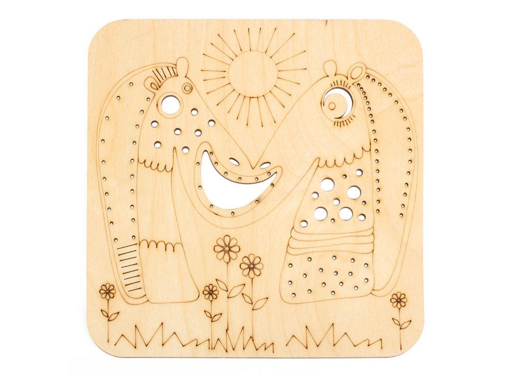 Серия «Занимательные животные»Декоративные плитки<br><br><br>Артикул: DZ70025<br>Основа: фанера<br>Размер: 170x170/толщина 3 мм<br>Упаковка: пакет