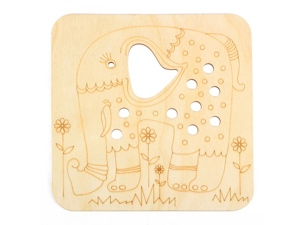 Серия «Занимательные животные»Декоративные плитки<br><br><br>Артикул: DZ70026<br>Основа: фанера<br>Размер: 170x170/толщина 3 мм<br>Упаковка: пакет
