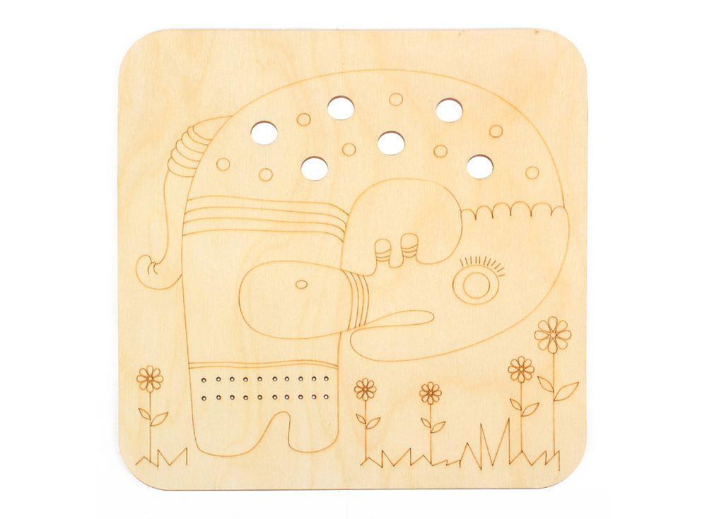 Серия «Занимательные животные»Декоративные плитки<br><br><br>Артикул: DZ70027<br>Основа: фанера<br>Размер см: 170x170/толщина 3 мм<br>Упаковка: пакет