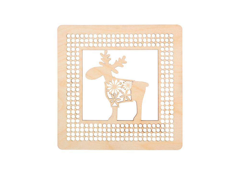 Панно с оленем для декора ниткамиДекоративные плитки<br><br><br>Артикул: DZ70055<br>Основа: фанера<br>Размер: 170x170/толщина 3 мм