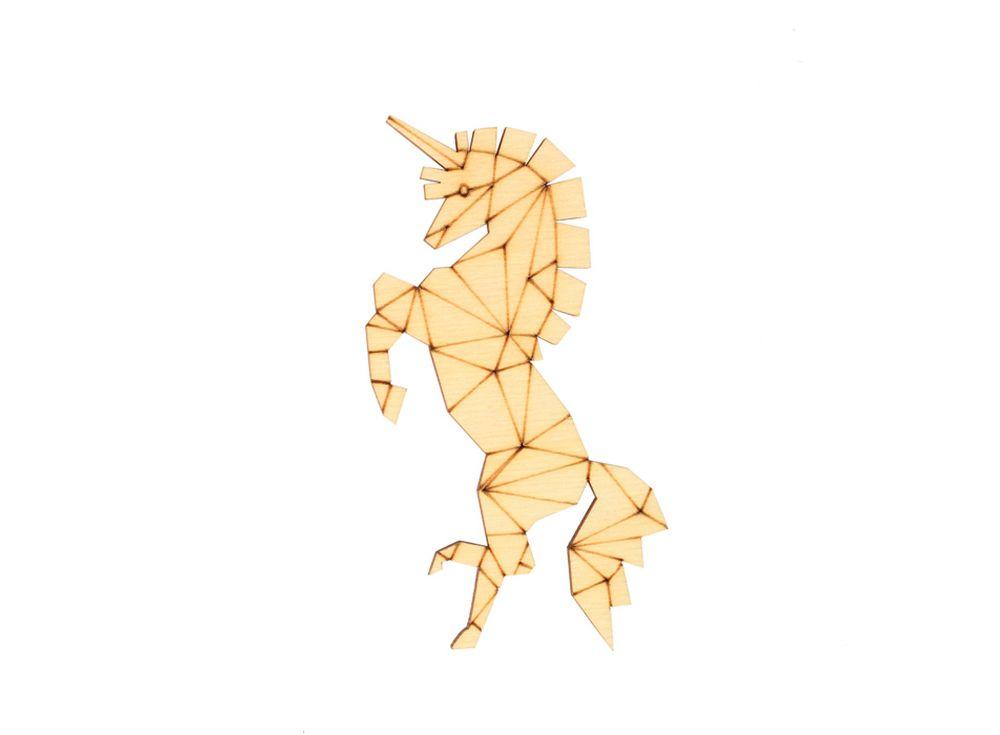 Форма для декора «Оригами-единорог»Формы для декора<br><br><br>Артикул: DZ80001<br>Основа: фанера<br>Размер: 51x100/толщина 3 мм<br>Упаковка: пакет