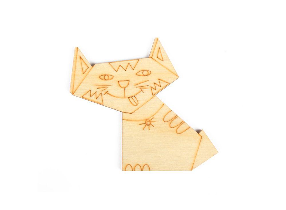 Форма для декора «Оригами-хитрюга»Формы для декора<br><br><br>Артикул: DZ80003<br>Основа: фанера<br>Размер: 78x70/толщина 3 мм<br>Упаковка: пакет