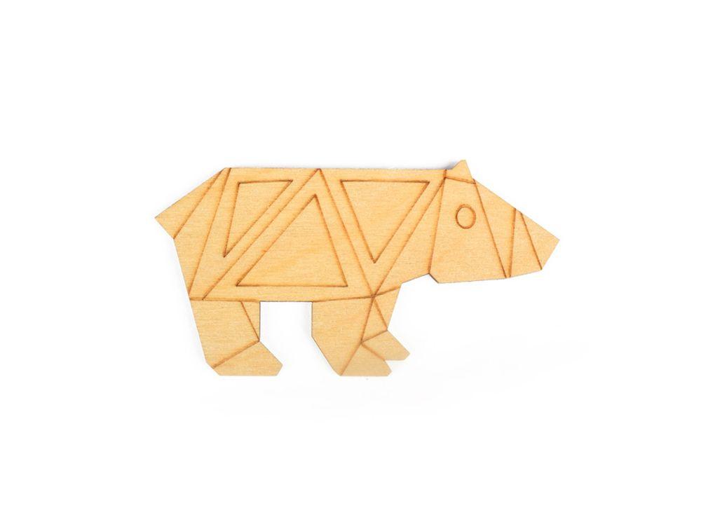 Форма дл декора «Оригами-медведь»Формы дл декора<br><br><br>Артикул: DZ80007<br>Основа: фанера<br>Размер: 80x43/толщина 3 мм<br>Упаковка: пакет