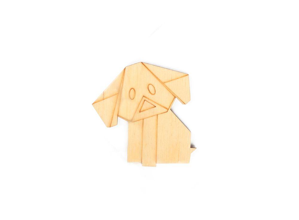 Форма для декора «Оригами-добрый пёс»Формы для декора<br><br><br>Артикул: DZ80010<br>Основа: фанера<br>Размер: 70x68/толщина 3 мм<br>Упаковка: пакет