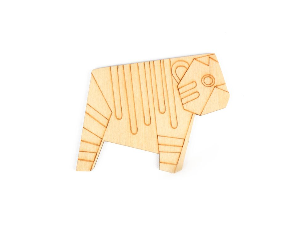 Форма для декора «Оригами-тигренок»Формы для декора<br><br><br>Артикул: DZ80012<br>Основа: фанера<br>Размер см: 80x64/толщина 3 мм<br>Упаковка: пакет