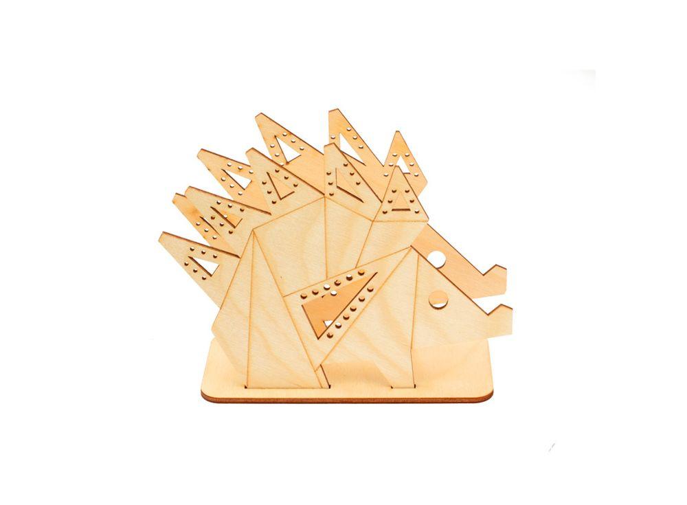 Подставка «Оригами-ёж»Формы для декора на подставке<br><br><br>Артикул: DZ80013<br>Основа: фанера<br>Размер: 161x124x60/толщина 3 мм<br>Упаковка: пакет
