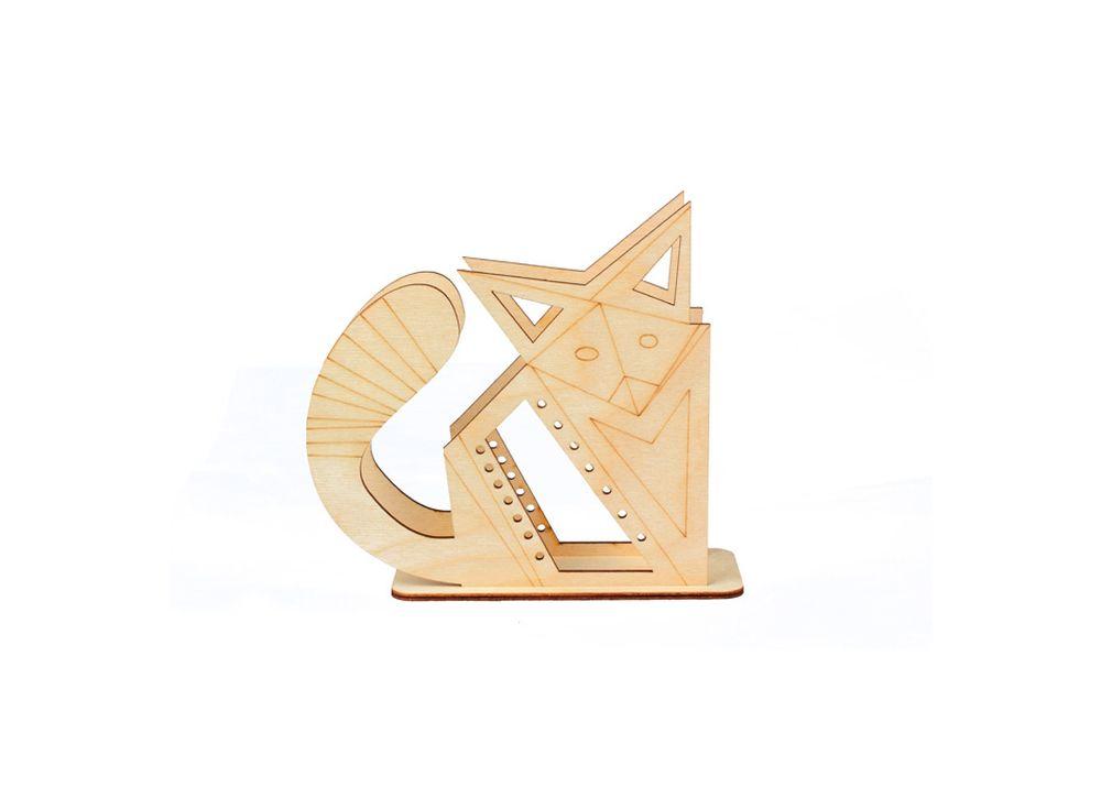 Подставка «Оригами-лис»Формы для декора на подставке<br><br><br>Артикул: DZ80015<br>Основа: фанера<br>Размер: 155x133x60/толщина 3 мм<br>Упаковка: пакет