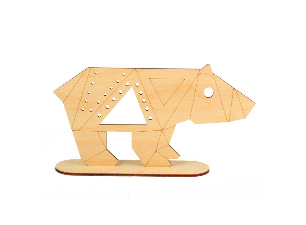 Форма для декора «Медведь на подставке»Формы для декора на подставке<br><br><br>Артикул: DZ80016<br>Основа: фанера<br>Размер: 212x117/толщина 3 мм<br>Упаковка: пакет
