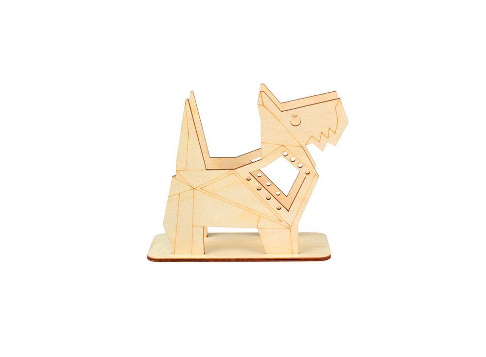 Подставка «Оригами-пес»Формы для декора на подставке<br><br><br>Артикул: DZ80018<br>Основа: фанера<br>Размер: 138x126x60/толщина 3 мм<br>Упаковка: пакет