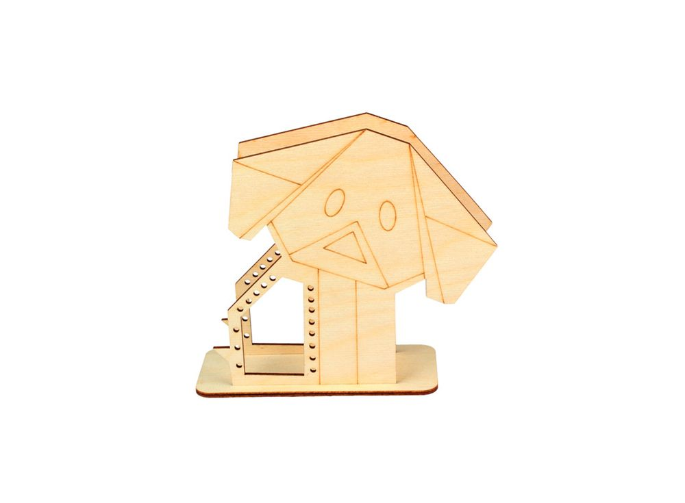 Подставка «Оригами-грустный щенок»Формы для декора на подставке<br><br><br>Артикул: DZ80019<br>Основа: фанера<br>Размер: 160x151x60/толщина 3 мм<br>Упаковка: пакет
