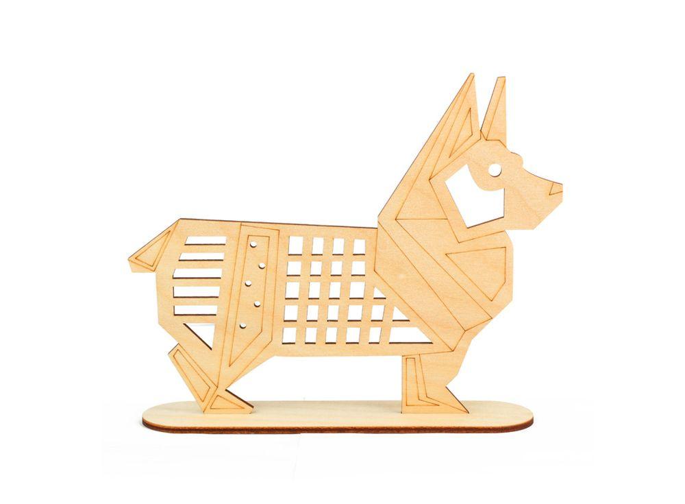 Форма для декора «Собака на подставке»Формы для декора на подставке<br><br><br>Артикул: DZ80020<br>Основа: фанера<br>Размер: 188x155/толщина 3 мм<br>Упаковка: пакет