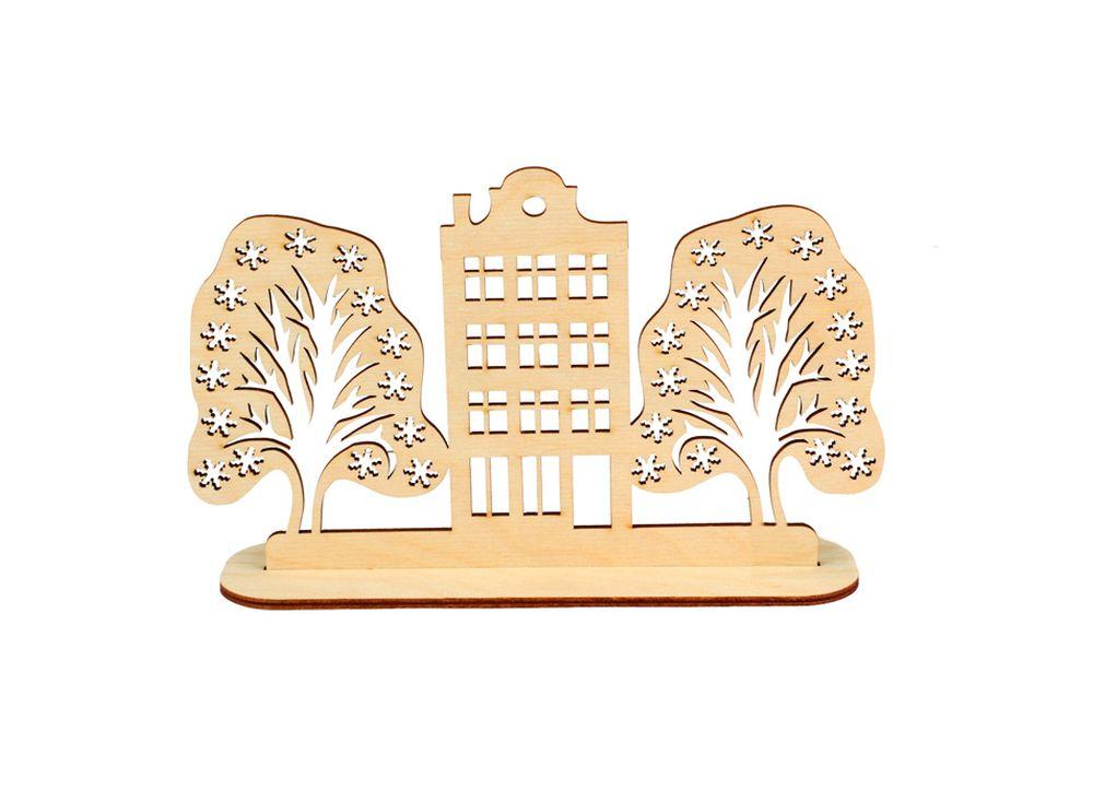 Декоративная форма на подставке «Улица»Формы для декора на подставке<br><br><br>Артикул: DZ90028<br>Основа: фанера<br>Размер: 203x120/толщина 3 мм<br>Упаковка: пакет