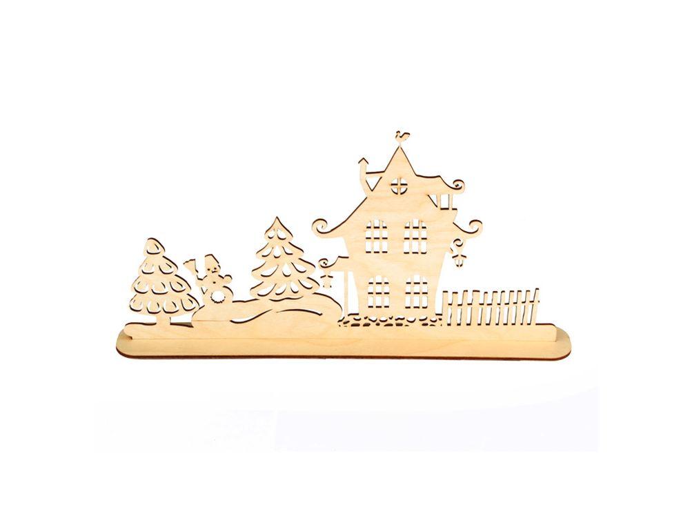Декоративная форма на подставке «Улица»Формы для декора на подставке<br><br><br>Артикул: DZ90031<br>Основа: фанера<br>Размер: 370x186/толщина 3 мм<br>Упаковка: пакет