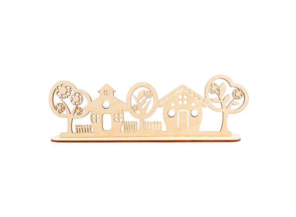 Декоративная форма на подставке «Улица»Формы для декора на подставке<br><br><br>Артикул: DZ90034<br>Основа: фанера<br>Размер: 310x96/толщина 3 мм<br>Упаковка: пакет