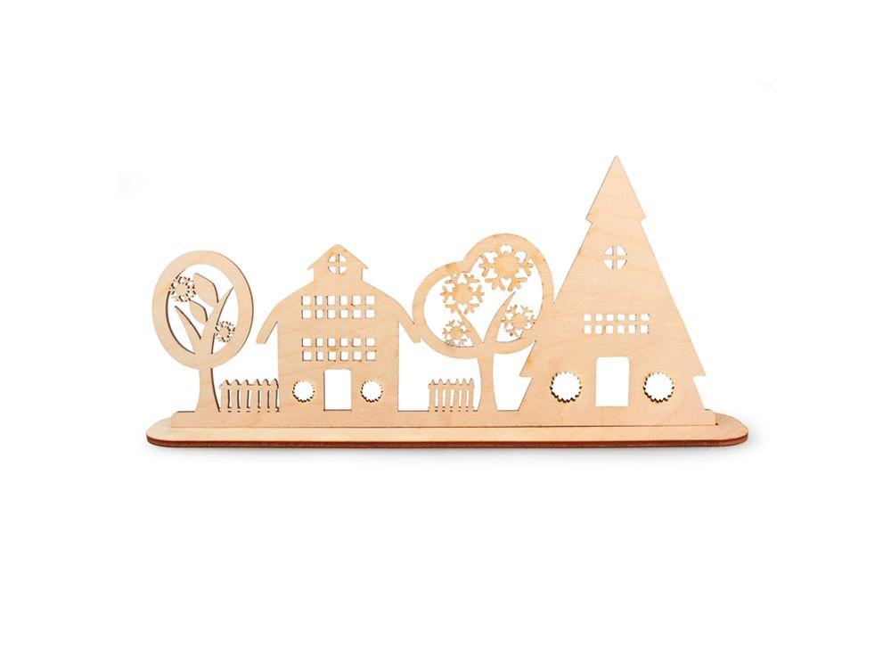 Декоративная форма на подставке «Улица»Формы для декора на подставке<br><br><br>Артикул: DZ90035<br>Основа: фанера<br>Размер: 289x130/толщина 3 мм<br>Упаковка: пакет