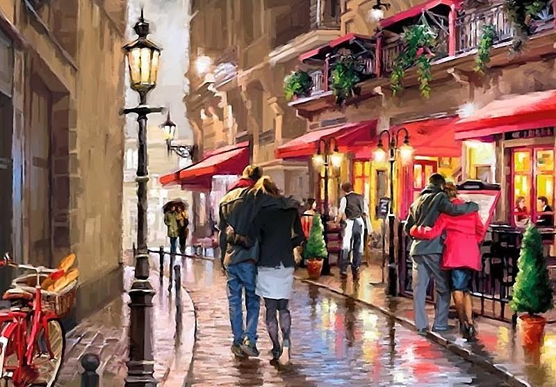 «Улочки» Ричарда МакнейлаPaintboy (Premium)<br><br><br>Артикул: GX3137<br>Основа: Холст<br>Сложность: сложные<br>Размер: 40x50 см<br>Количество цветов: 24<br>Техника рисования: Без смешивания красок