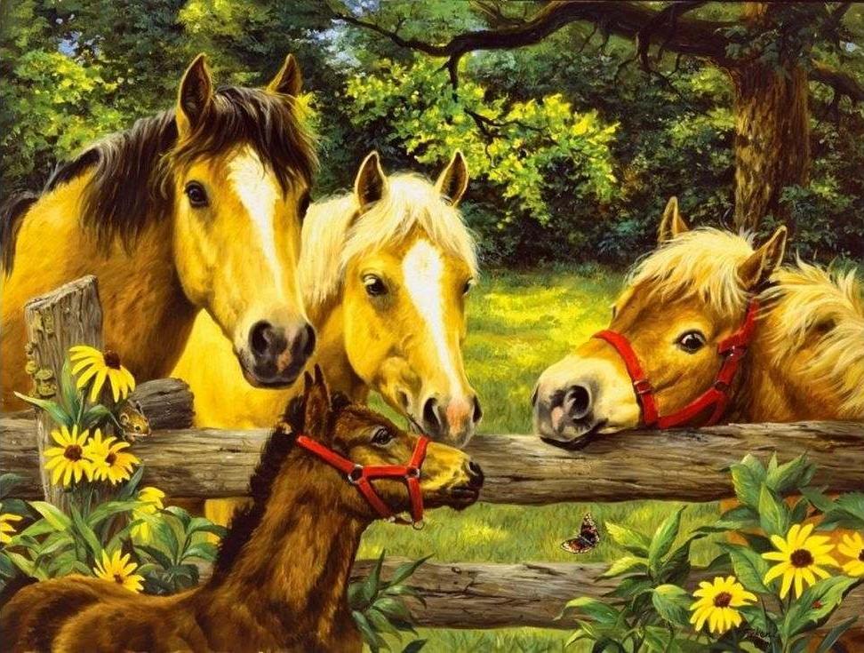 «Лошади и пони»Paintboy (Premium)<br><br><br>Артикул: GX3874<br>Основа: Холст<br>Сложность: сложные<br>Размер: 40x50 см<br>Количество цветов: 27<br>Техника рисования: Без смешивания красок