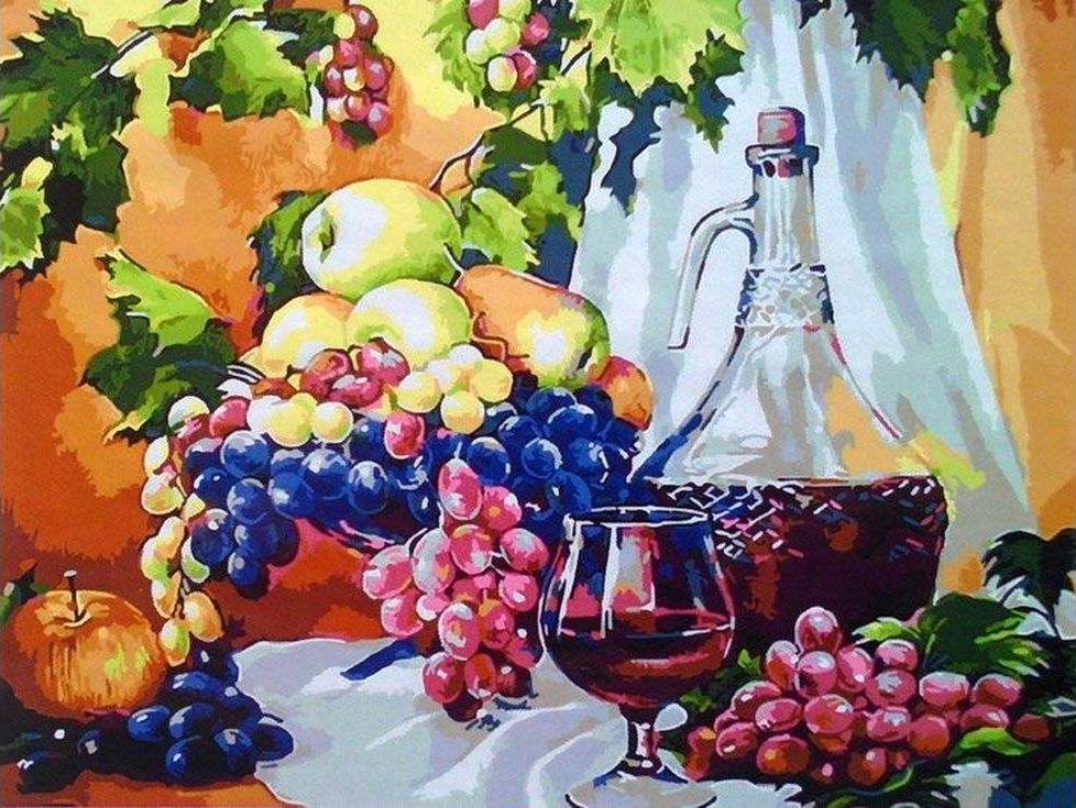 «Красное вино»Paintboy (Premium)<br><br><br>Артикул: GX3918<br>Основа: Холст<br>Сложность: сложные<br>Размер: 40x50 см<br>Количество цветов: 25<br>Техника рисования: Без смешивания красок