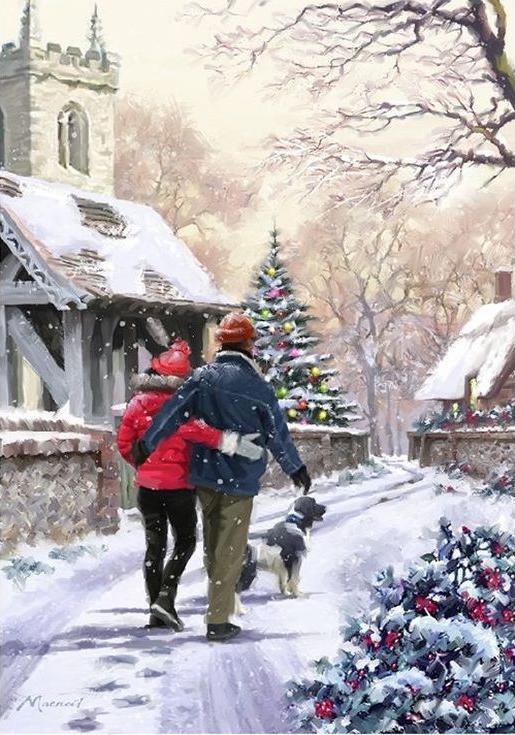 «Канун Рождества» Ричарда МакнейлаPaintboy (Premium)<br><br><br>Артикул: GX3920<br>Основа: Холст<br>Сложность: сложные<br>Размер: 40x50 см<br>Количество цветов: 25<br>Техника рисования: Без смешивания красок